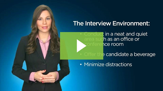screenshot of the video regarding how to conduct a job interview