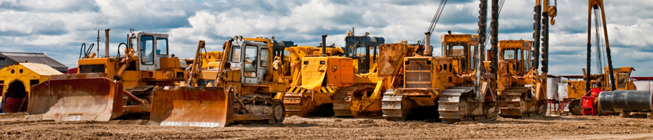 a variety of construction equipment