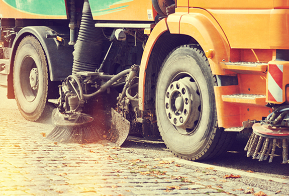 image of road cleaning truck