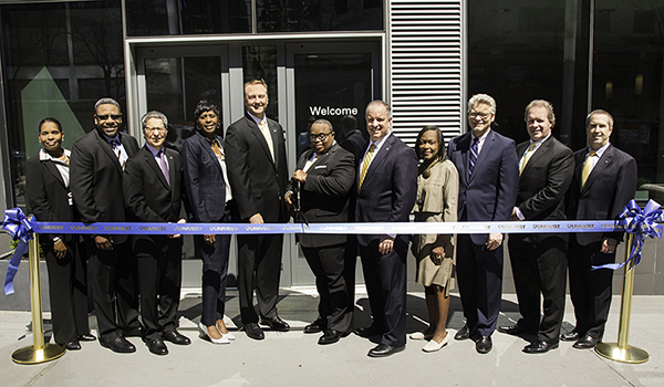Univest Executives and Community figures at the Univest University City Ribbon Cutting